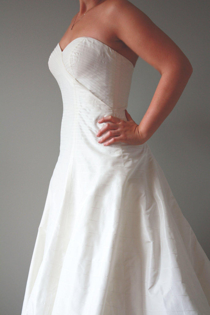 Priscilla of Boston Lynette Crossover Gown - Priscilla of Boston - Nearly Newlywed Bridal Boutique - 3
