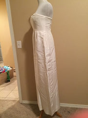J Crew 'Clarice' size 6 used wedding dress side view on mannequin