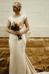 Romona Kaveza 'Custom Box Pleat' - custom-made - Nearly Newlywed Bridal Boutique - 1
