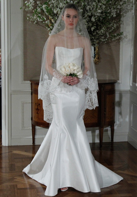 Romona Keveza Silk Mermaid Wedding Dress - Romona Keveza - Nearly Newlywed Bridal Boutique - 7