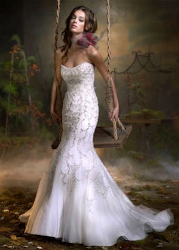 Lazaro 3903 Trumpet Tulle Gown - Lazaro - Nearly Newlywed Bridal Boutique - 2
