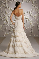 Lazaro Victorian Lace A-line Wedding Dress - Lazaro - Nearly Newlywed Bridal Boutique - 3