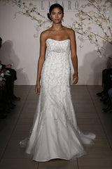 Lazaro 3903 Trumpet Tulle Gown - Lazaro - Nearly Newlywed Bridal Boutique - 1