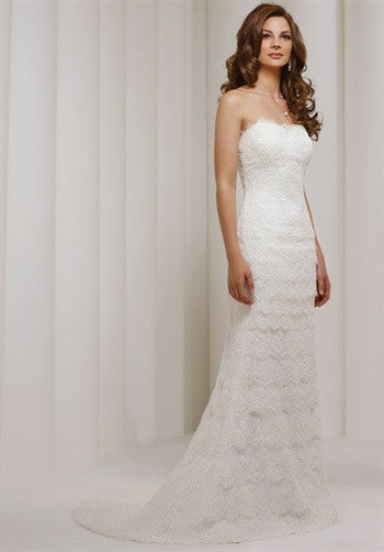 Robert Bullock Lace Strapless Firra Wedding Dress - Robert Bullock - Nearly Newlywed Bridal Boutique - 1