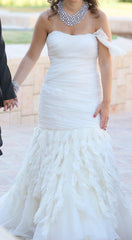 Jim Hjelm Chiffon & Crystal Shirred Gown - Jim Hjelm - Nearly Newlywed Bridal Boutique - 4