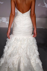 Jim Hjelm Chiffon & Crystal Shirred Gown - Jim Hjelm - Nearly Newlywed Bridal Boutique - 2