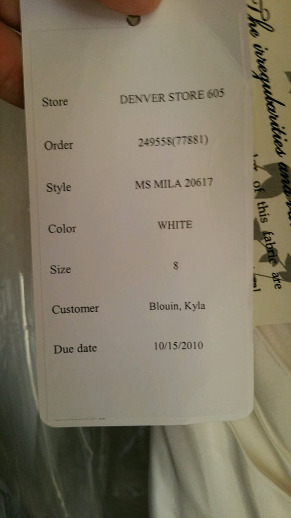 Melissa Sweet 'Mila' size 6 new wedding dress view of tag