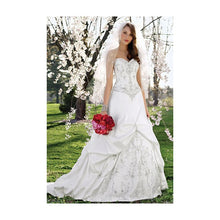 Load image into Gallery viewer, Alfred Angelo 'Sapphire Collection 758' size 12 used wedding dress front view on bride
