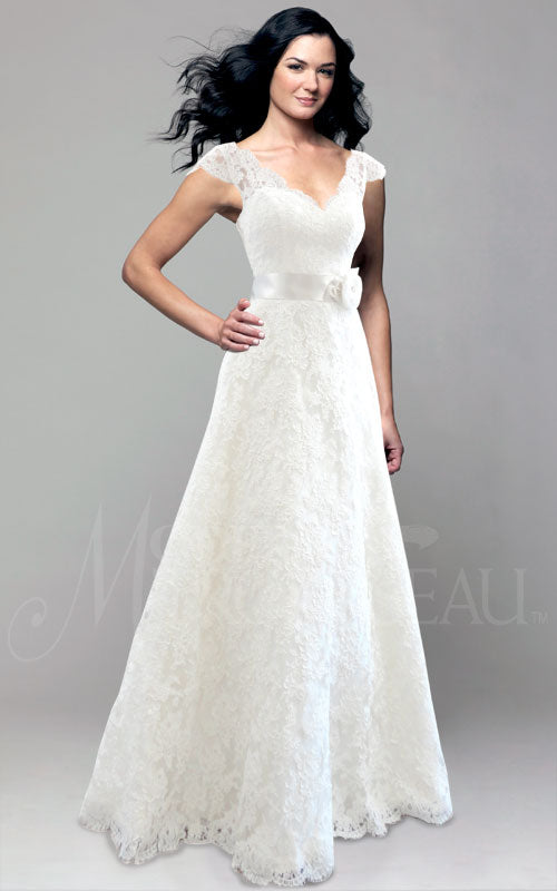 Modern Trousseau 'Honey' size 12 used wedding dress front view on model