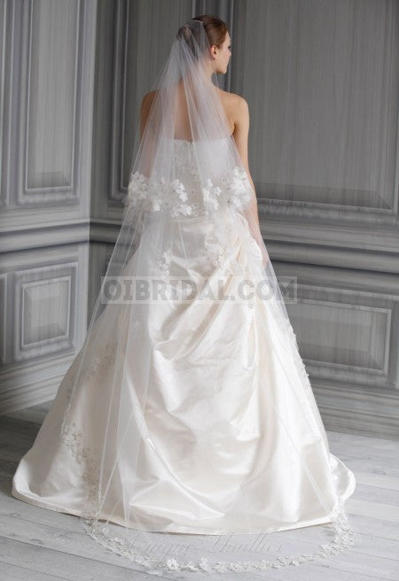 Monique Lhuillier 'Poppy' size 2 new wedding dress back view on model