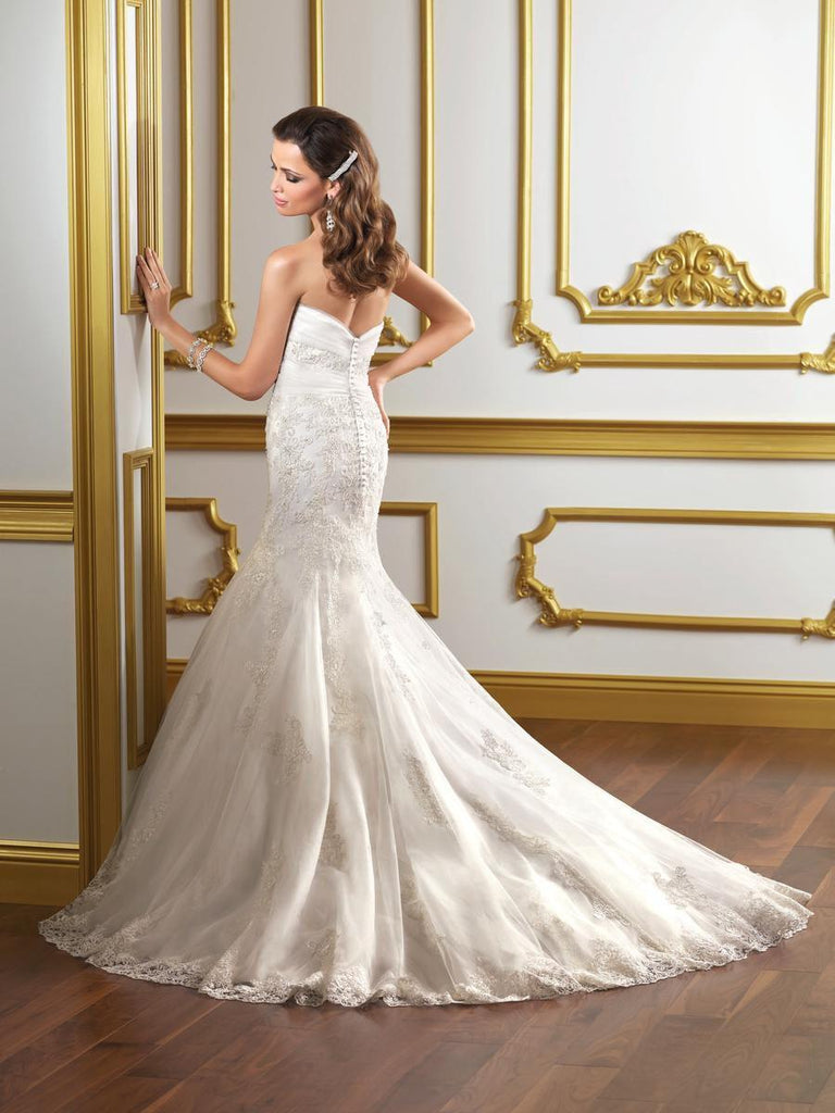 Mori Lee 1807 Strapless Mermaid Gown - Mori Lee - Nearly Newlywed Bridal Boutique - 2