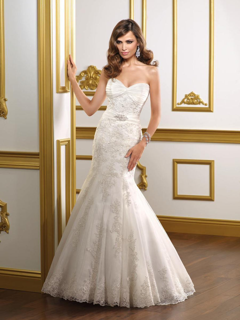Mori Lee 1807 Strapless Mermaid Gown - Mori Lee - Nearly Newlywed Bridal Boutique - 1