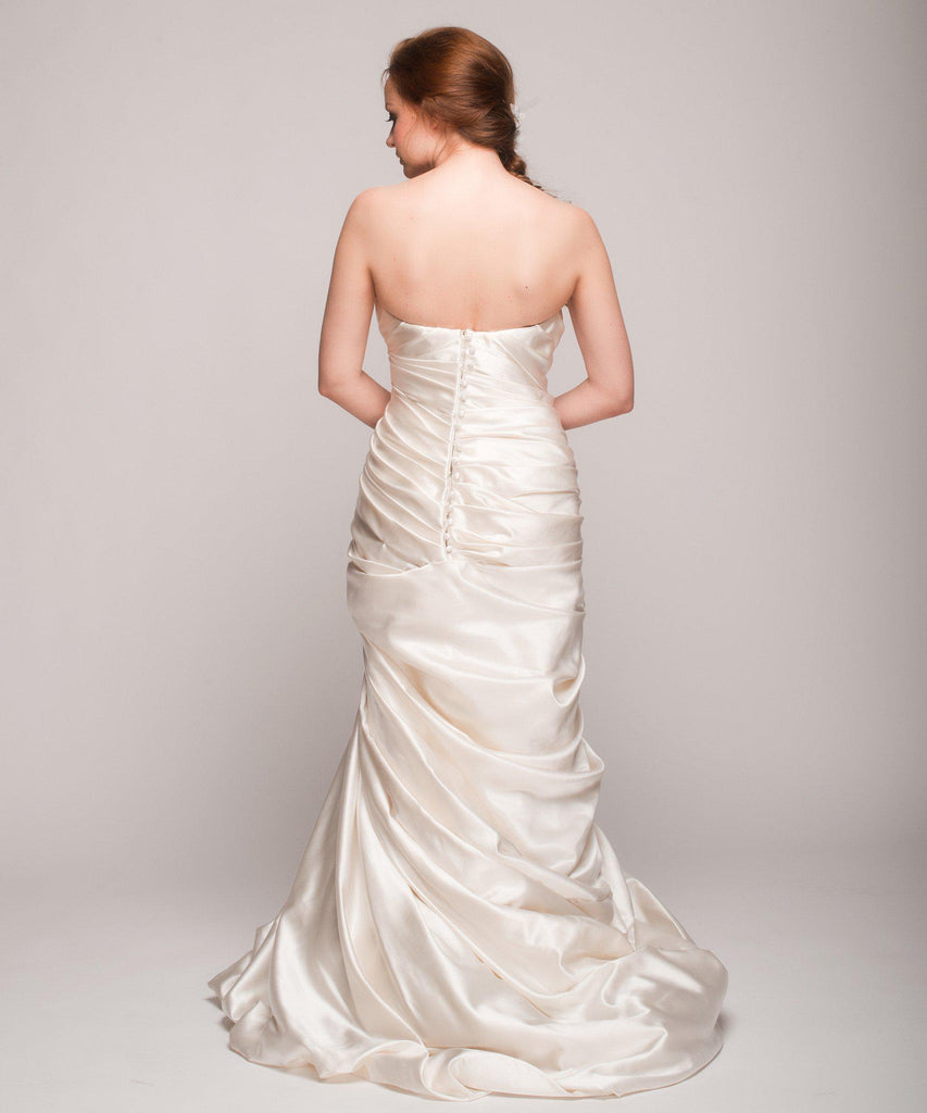 Pnina Tornai Ruched Mermaid Gown - Pnina Tornai - Nearly Newlywed Bridal Boutique - 3
