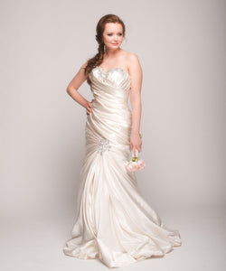 Pnina Tornai Ruched Mermaid Gown - Pnina Tornai - Nearly Newlywed Bridal Boutique - 2