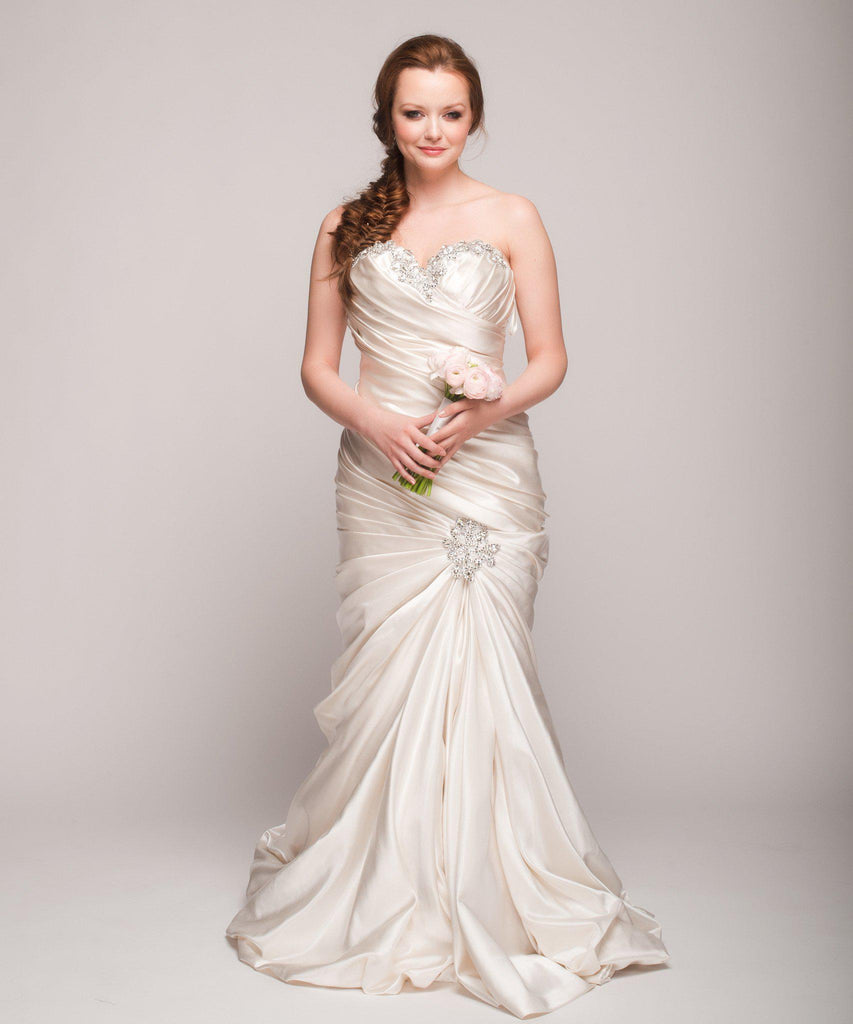 Pnina Tornai Ruched Mermaid Gown - Nearly Newlywed