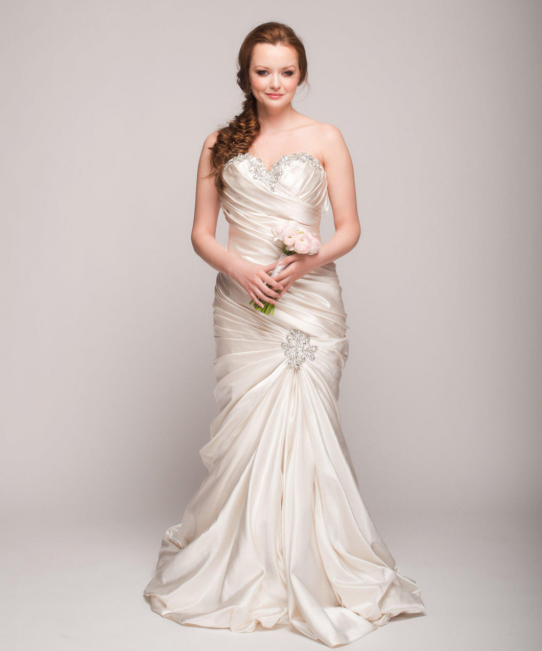 Pnina Tornai Ruched Mermaid Gown - Pnina Tornai - Nearly Newlywed Bridal Boutique - 1