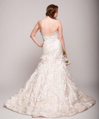 Eugenia 3499 Ivory Floral Satin Skirt Ball Gown - Eugenia - Nearly Newlywed Bridal Boutique - 3