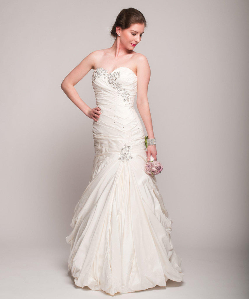 Pnina Tornai Cascading Beaded Mermaid Wedding Dress - Pnina Tornai - Nearly Newlywed Bridal Boutique - 2