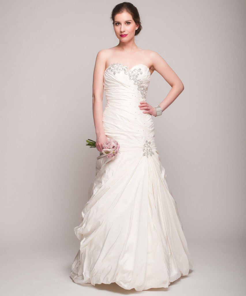 Pnina Tornai Cascading Beaded Mermaid Wedding Dress - Pnina Tornai - Nearly Newlywed Bridal Boutique - 1