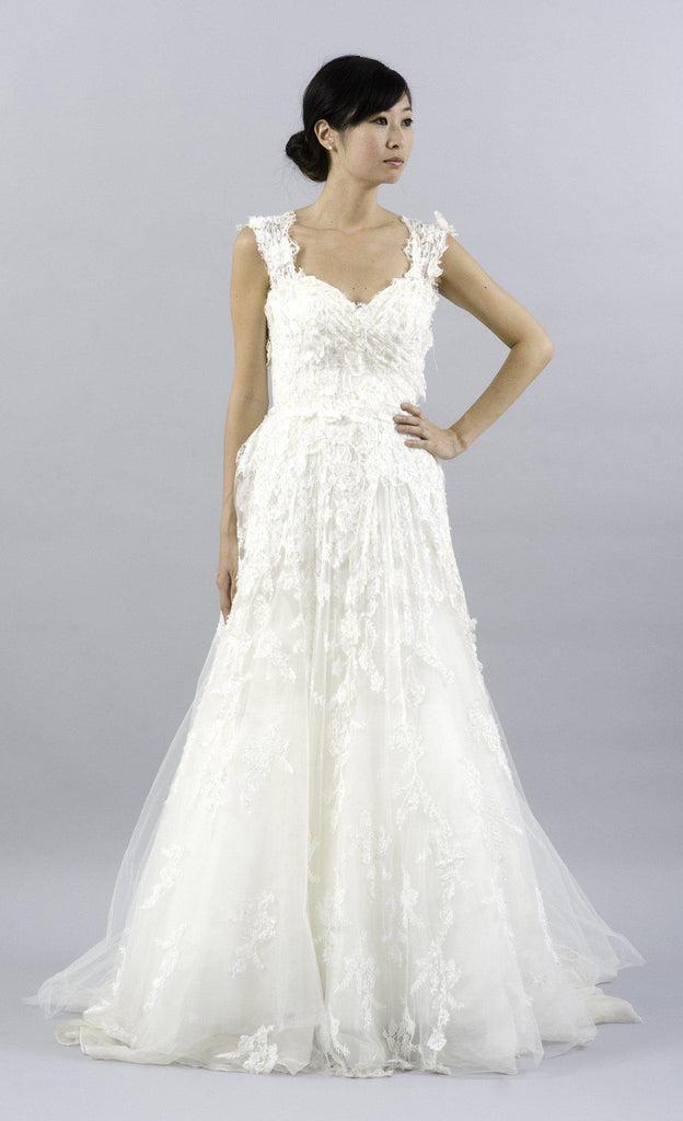Elie Saab Caelum Lace and Tulle Wedding Dress - Elie Saab - Nearly Newlywed Bridal Boutique - 1