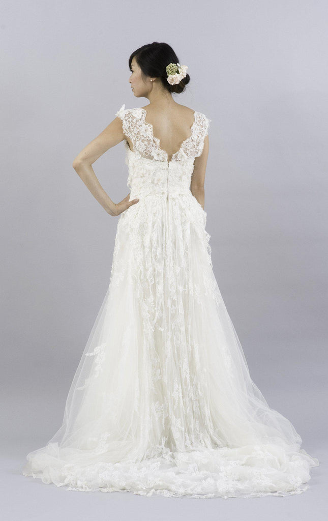 Elie Saab Caelum Lace and Tulle Wedding Dress - Elie Saab - Nearly Newlywed Bridal Boutique - 2