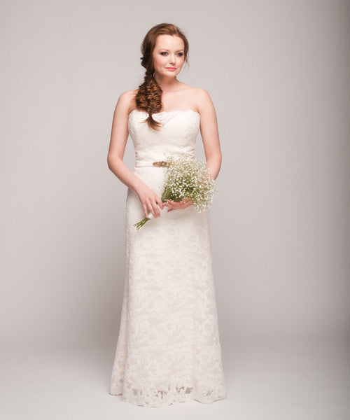 Tara Keely '2053' Lace Strapless Gown - Tara Keely - Nearly Newlywed Bridal Boutique - 7
