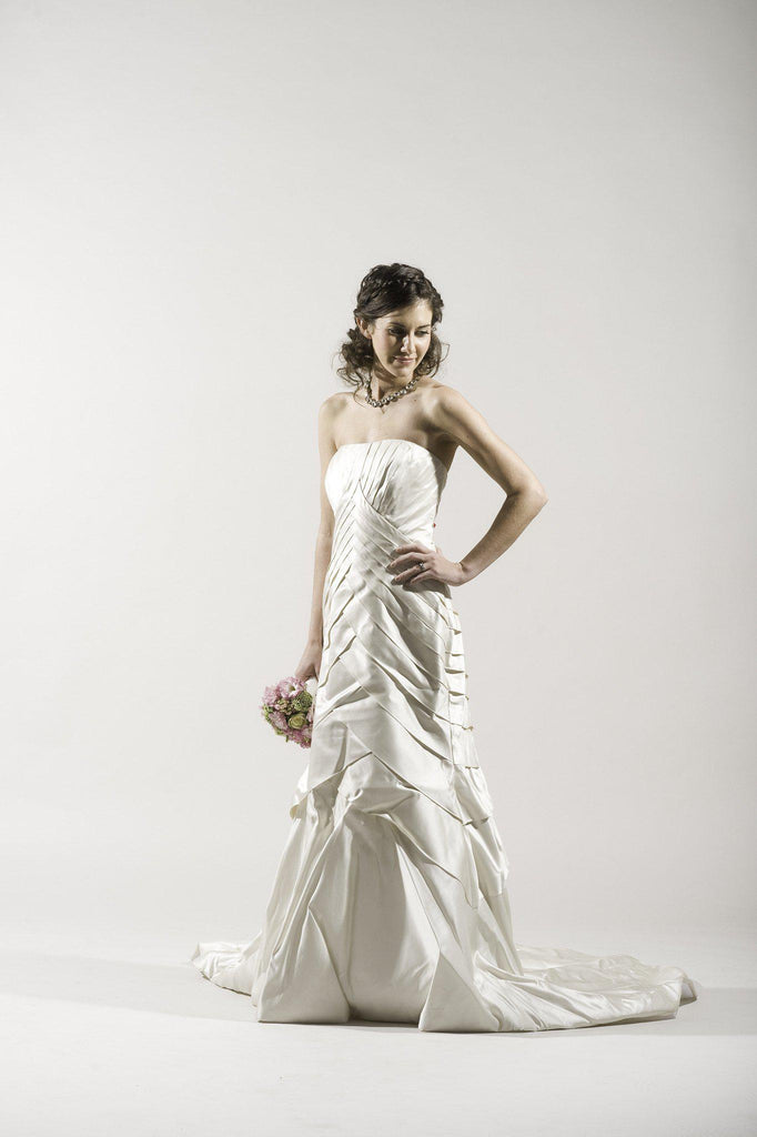 Tomasina Silk Satin Dress - Tomasina - Nearly Newlywed Bridal Boutique - 2