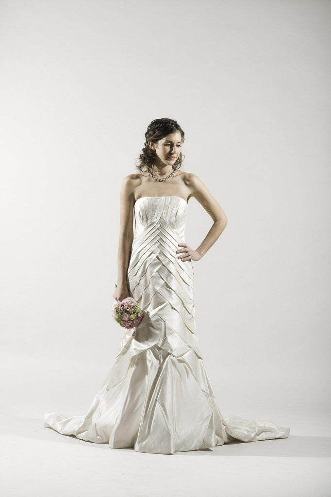 Tomasina Silk Satin Dress - Tomasina - Nearly Newlywed Bridal Boutique - 1