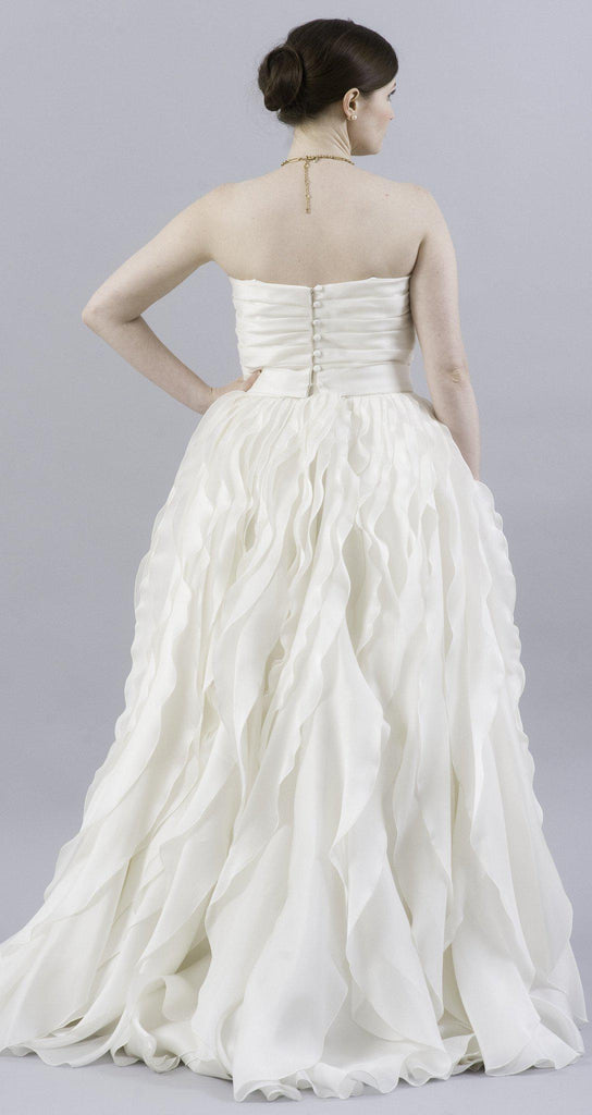 Monique Lhuillier Winter Ruffled Organza Dress - Monique Lhuillier - Nearly Newlywed Bridal Boutique - 3