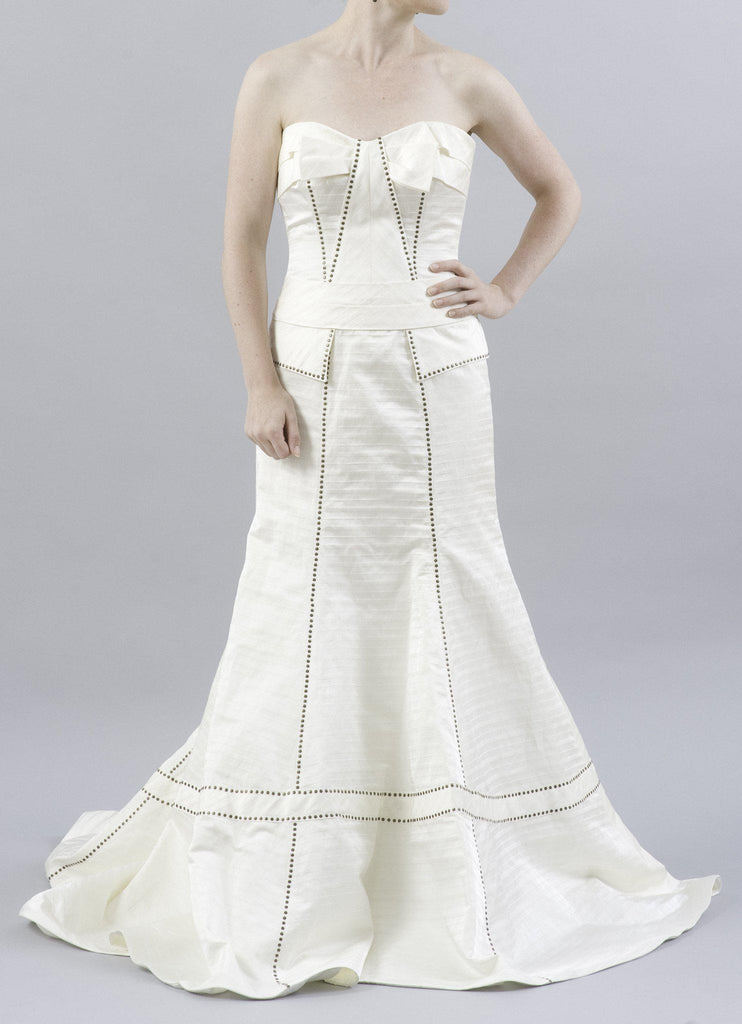 Anne Barge La Fleur LF202 Ivory Silk Gown - Anne Barge - Nearly Newlywed Bridal Boutique - 1