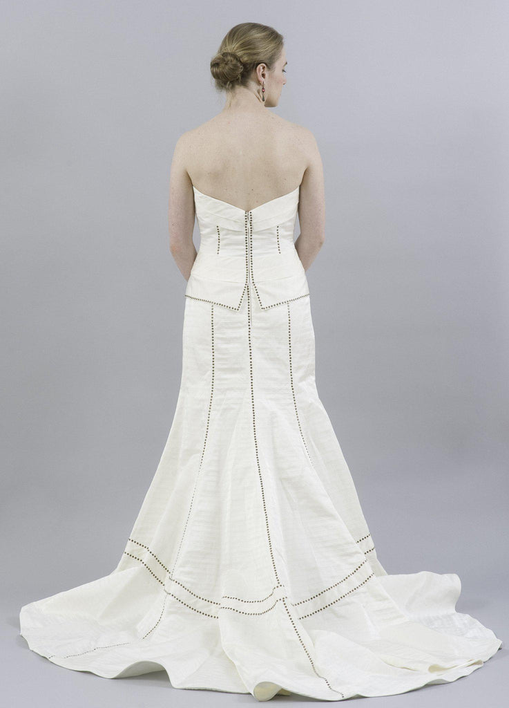Anne Barge La Fleur LF202 Ivory Silk Gown - Anne Barge - Nearly Newlywed Bridal Boutique - 2