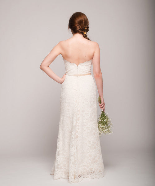 Tara Keely '2053' Lace Strapless Gown - Tara Keely - Nearly Newlywed Bridal Boutique - 5