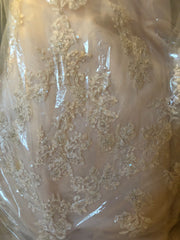 Mon Cherie 'Blush Beaded' size 2 used wedding dress in bag