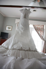 Kenneth Pool 'Marlene' Satin Trumpet Wedding Dress - Kenneth Pool - Nearly Newlywed Bridal Boutique - 2