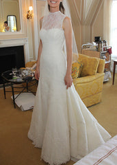 Vera Wang Lisette Corded Leaf Lace Wedding Dress - Vera Wang - Nearly Newlywed Bridal Boutique - 4