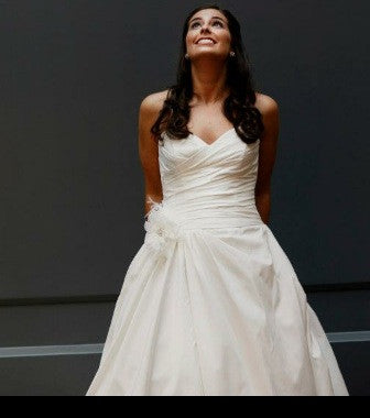 Paloma Blanca 'Silk Dupioni' - Paloma Blanca - Nearly Newlywed Bridal Boutique - 3