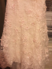 Oleg Cassini Strapless Lace - Oleg Cassini - Nearly Newlywed Bridal Boutique - 4
