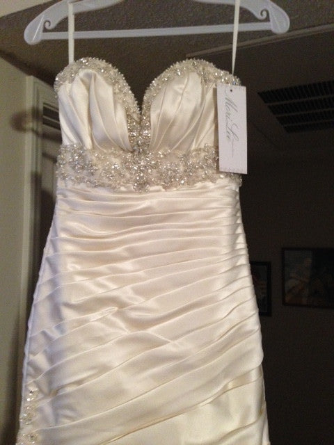 Mori Lee Madeline Gardner Strapless Wedding Dress - Mori Lee - Nearly Newlywed Bridal Boutique - 3