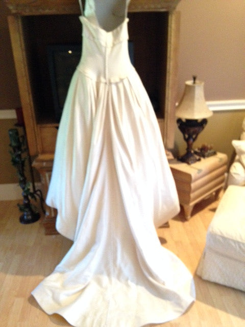 Vera Wang 'Pinstriped Ball Gown from Lavender Collection' - Vera Wang - Nearly Newlywed Bridal Boutique - 5