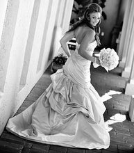 Load image into Gallery viewer, Kenneth Pool 'Romantic' Strapless Satin Gown - Kenneth Pool - Nearly Newlywed Bridal Boutique - 4