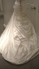 Pnina Tornai Ruched Gown with Floral Inset - Pnina Tornai - Nearly Newlywed Bridal Boutique - 5