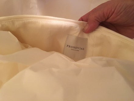 Pronovias 'Semilla' size 2 used wedding dress view of tag