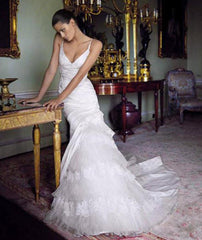 Pronovias 'Diagonal' Mermaid with Petticoat Inset - Pronovias - Nearly Newlywed Bridal Boutique - 2