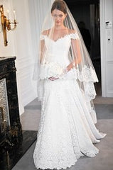 Romona Keveza 'L263' size 10 sample wedding dress front view on model