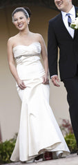 Romona Keveza Strapless Fit & Flare Gown - Romona Keveza - Nearly Newlywed Bridal Boutique - 1