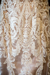 Madison James '271' size 4 used wedding dress close up of material