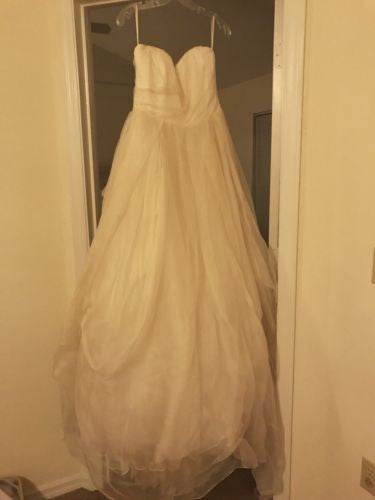 Rivini 'Custom' size 6 sample wedding dress front view on hanger