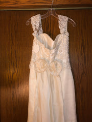 Exquisite Bride 'Portia' size 10 new wedding dress back view close up of dress