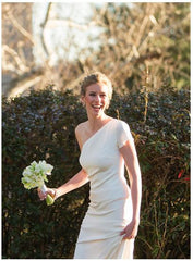 Nicole Miller One Shoulder Gown - Nicole Miller - Nearly Newlywed Bridal Boutique - 2