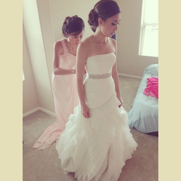 White by Vera Wang 'Organza Fit and Flare' - White by Vera Wang - Nearly Newlywed Bridal Boutique - 5